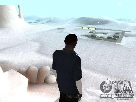 Snow MOD 2012-2013 for GTA San Andreas second screenshot