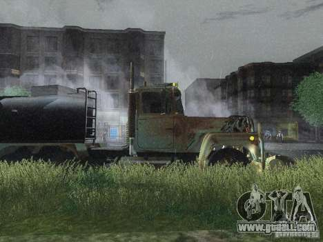 Armored Mack Titan Fuel Truck for GTA San Andreas back left view
