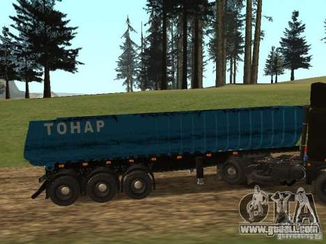 Semi-trailer Tonar 95234 for GTA San Andreas left view
