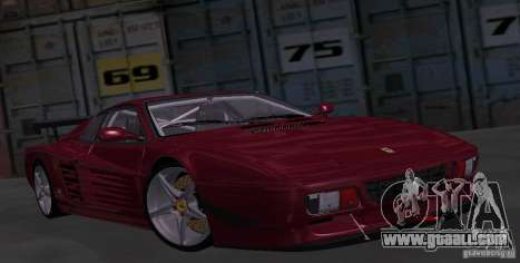 Ferrari 512 TR for GTA San Andreas back view