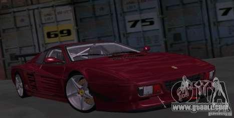 Ferrari 512 TR for GTA San Andreas back view