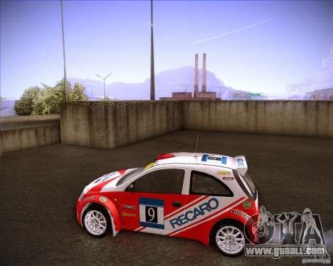 Opel Corsa Super 1600 for GTA San Andreas left view