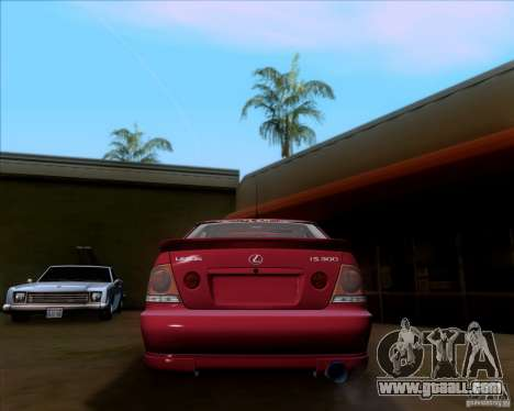 Lexus IS300 Hella Flush for GTA San Andreas right view