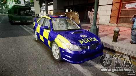 Subaru Impreza WRX Police [ELS] for GTA 4 back view
