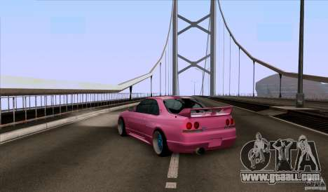 Nissan Skyline GTR 33 Fatlace for GTA San Andreas back left view