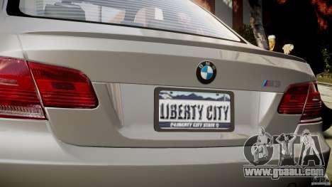 BMW M3 E92 for GTA 4 bottom view