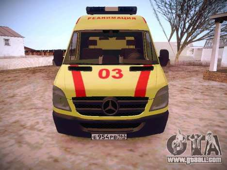 Mercedes Benz Sprinter Ambulance for GTA San Andreas left view