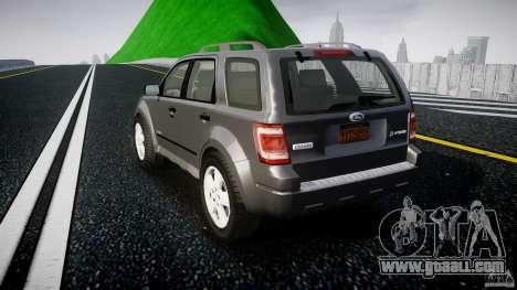 Ford Escape 2011 Hybrid Civilian Version v1.0 for GTA 4 back left view