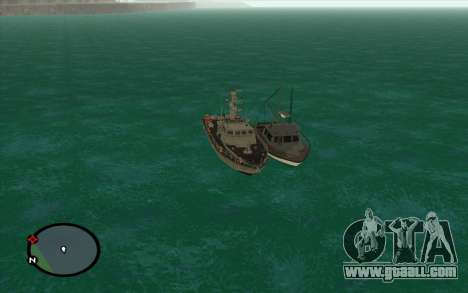 Military boat from CODMW3 for GTA San Andreas back left view