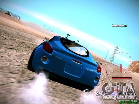 Pontiac Solstice Falken Tire for GTA San Andreas inner view