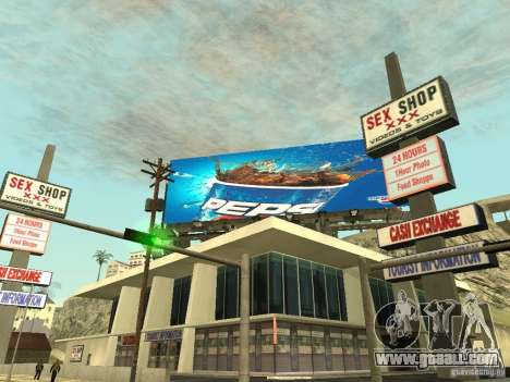 The new advertisement to the mods for GTA San Andreas