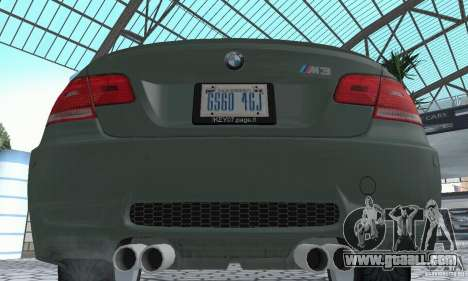 BMW M3 E92 Stock for GTA San Andreas inner view