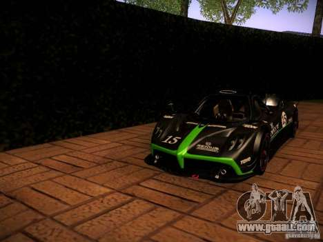 Pagani Zonda R for GTA San Andreas upper view