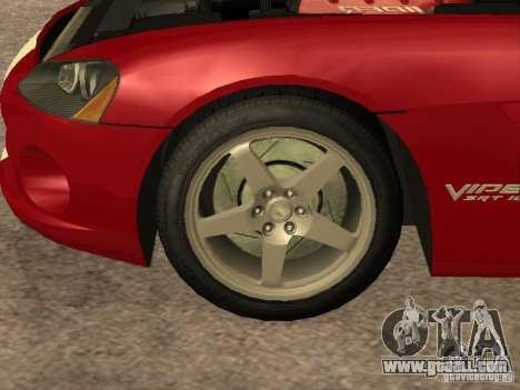 Dodge Viper for GTA San Andreas inner view