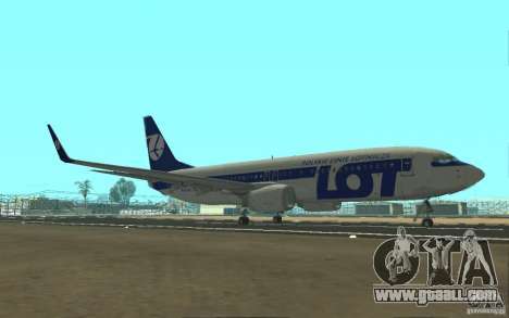 Boeing 737 LOT Polish Airlines for GTA San Andreas left view