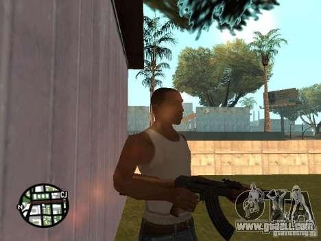 Brand new AK-47 for GTA San Andreas second screenshot
