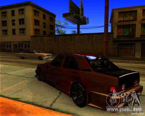 Mercedes Benz 190E - SpeedHunters Edition for GTA San Andreas back left view