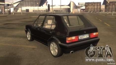 Volkswagen Golf for GTA 4 back view