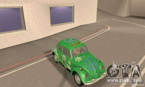 Volkswagen Beetle 1963 for GTA San Andreas bottom view