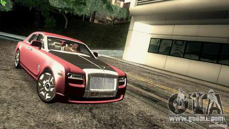 Rolls-Royce Ghost 2010 V1.0 for GTA San Andreas back view