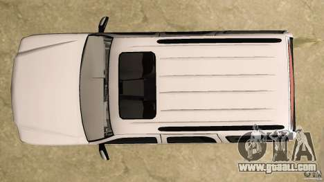 Cadillac Escalade for GTA Vice City upper view
