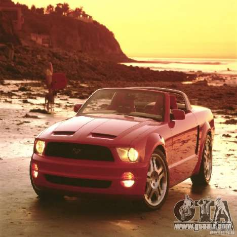 Loading screens in the style of Ford Mustang for GTA San Andreas