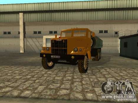 KrAZ truck flatbed v. 2 for GTA San Andreas side view