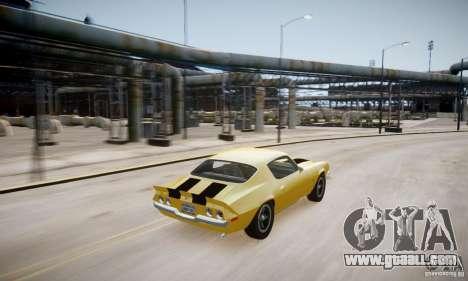 Chevrolet Camaro Z28 for GTA 4 upper view