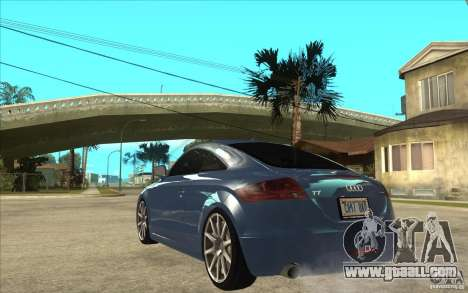 Audi TT 3.2 Coupe for GTA San Andreas back left view