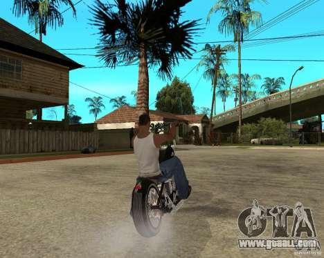 C&C chopeur for GTA San Andreas back left view