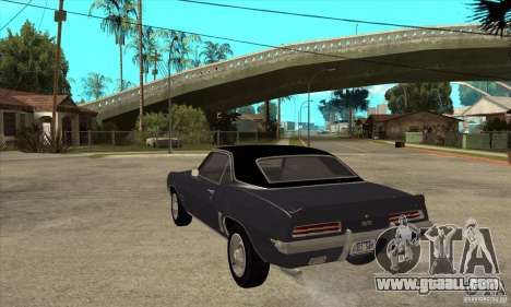 Chevrolet Camaro SS - Stock for GTA San Andreas back left view