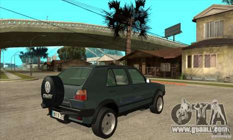 Volkswagen Golf Country MkII Syncro 4x4 1991 for GTA San Andreas right view