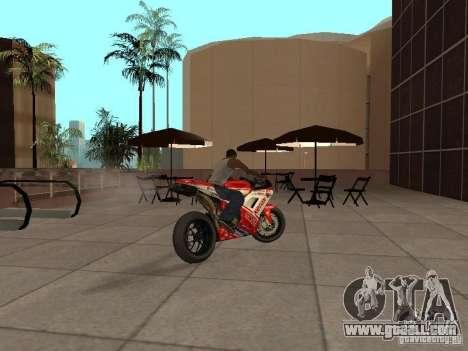 Ducati 1198R for GTA San Andreas left view
