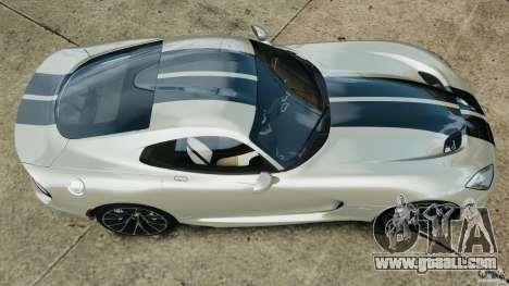 SRT Viper GTS 2013 for GTA 4 right view