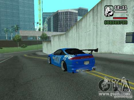 Mitsubishi Eclipse Tunning for GTA San Andreas back left view