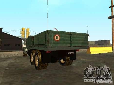 KrAZ truck flatbed v. 2 for GTA San Andreas back left view