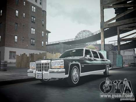 Cadillac Fleetwood 1985 for GTA 4 inner view