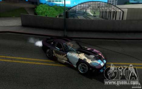 Dodge Viper GTS Coupe TT Black Revel for GTA San Andreas upper view