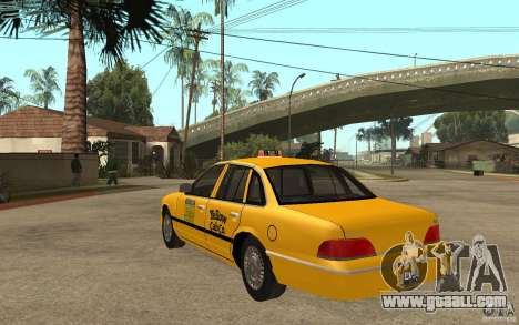 Ford Crown Victoria Taxi 1992 for GTA San Andreas back left view