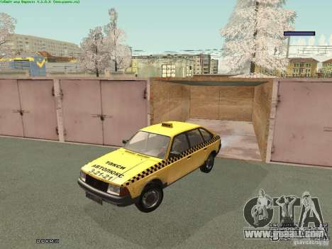 AZLK Moskvich 2141 Taxi v2 for GTA San Andreas bottom view
