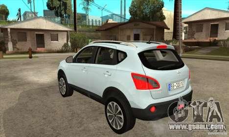 Nissan Qashqai 2011 for GTA San Andreas back left view