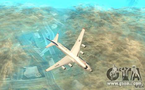 The an-124 Ruslan for GTA San Andreas back left view