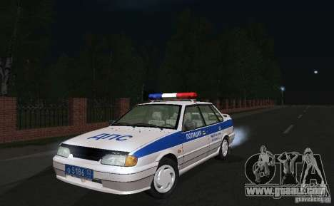 VAZ 2115 Police DPS for GTA San Andreas back view