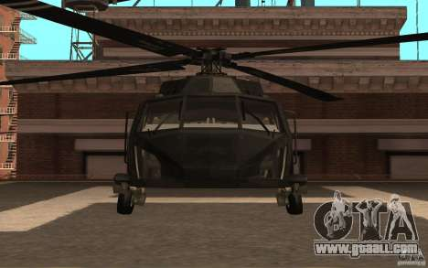 Black Hawk from BO2 for GTA San Andreas left view