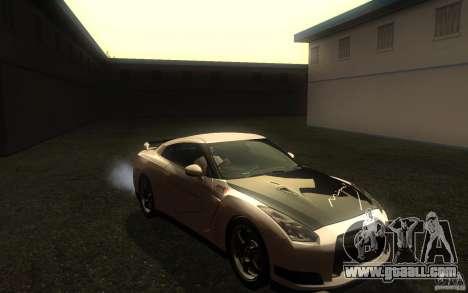 Nissan GTR R35 Spec-V 2010 for GTA San Andreas back view