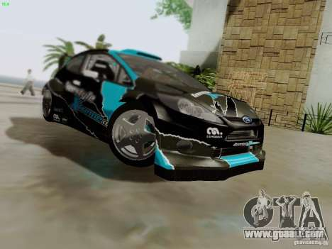 Ford Fiesta RS for GTA San Andreas bottom view