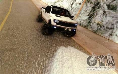 Ford F-150 Carryer Metal Mulisha for GTA San Andreas back view