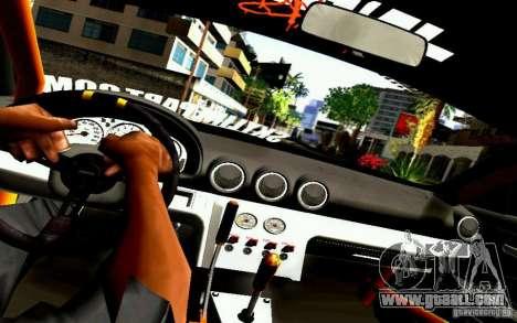 Nissan Silvia S15 Drift Works for GTA San Andreas inner view