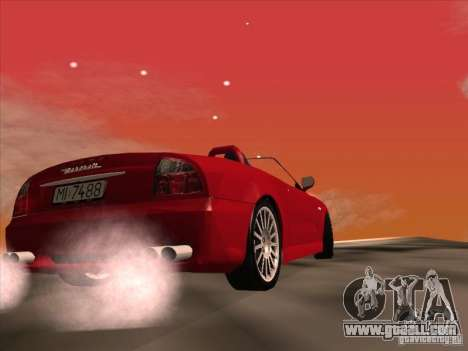 Maserati Spyder Cambiocorsa for GTA San Andreas inner view