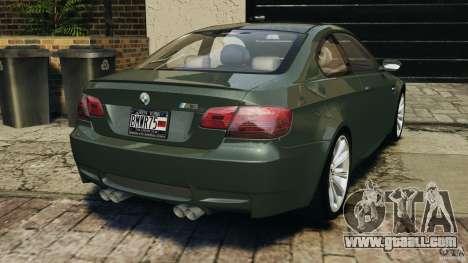BMW M3 E92 2007 v1.0 [Beta] for GTA 4 back left view